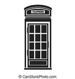 britannico, telefono, cabina