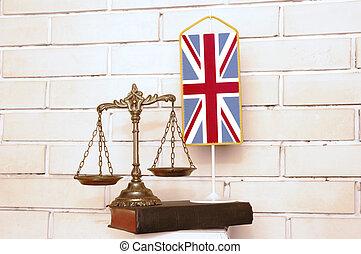 britannique, droit & loi, et, justice