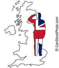 britisch, gruß