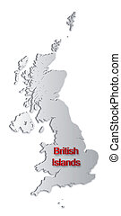 britisch, inseln, landkarte