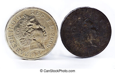 Münzen Britische Pfund Genommen Münzen Studio Britische Pfund