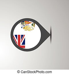 British antarctic Territory Map Pin