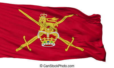 British Army 1938 Flag Isolated Seamless Loop - The British...