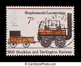 steam locomotion - BRITISH - CIRCA 1975: commemorative mail...