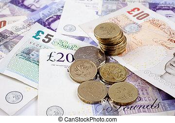 British Coins and Notes - British coins and notes/cash (GBP...