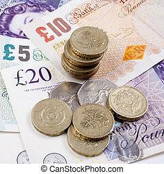 British Coins and Notes - British coins and notes/cash.