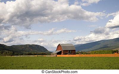 British Columbia Farmland - Farmland in the interior of...