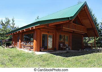 British Columbia mountain cabin