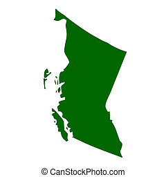 British Columbia Province - Map of British Columbia province...