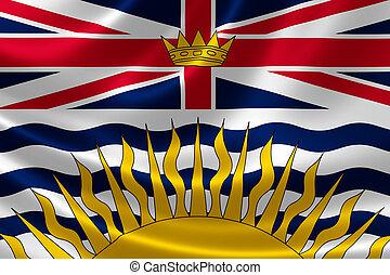 British Columbia Provincial Flag of Canada - 3D rendering of...