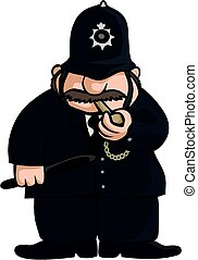 British constable - A cartoon image of a Britisih style...