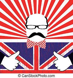 British day vector - Mustache pattern.British day vector....