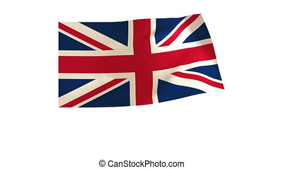 British Flag 013 - The British flag animates