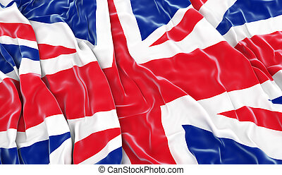 British flag - 3D render