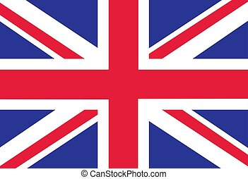 British Flag as Background. Flag of Great Britain. Vector EPS illustration