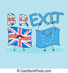 British flag brexit EU flag