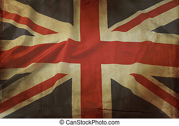British flag - Closeup of grunge Union Jack flag