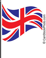 british flag - flapping british flag