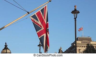 British Flag - Union Jack British Flag at Pole in London