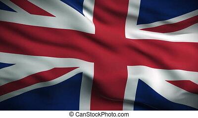 British Flag HD. Looped. - HD 1080. Highly detailed British...