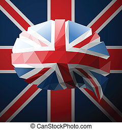 British flag in the form of a speech bubble