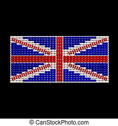 British Flag jewelry ornament design