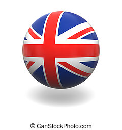 British flag - National flag of United Kingdom on sphere...