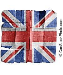 British Flag on old paper.