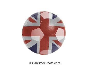 British flag on Soccer ball