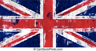 british flag painting vector