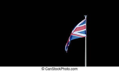 British Flag Pre-Keyed With Alpha Channel - Pre-keyed to add...