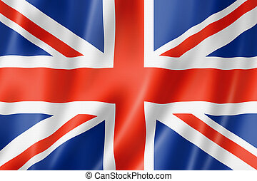 British flag - United Kingdom, UK flag, three dimensional...