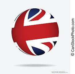 British Flag. Vector illustration.