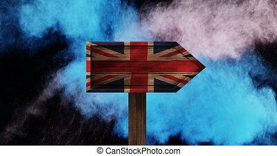 British Flag Video - British Flag on sign against animated ...