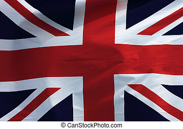 British Flag wave background.
