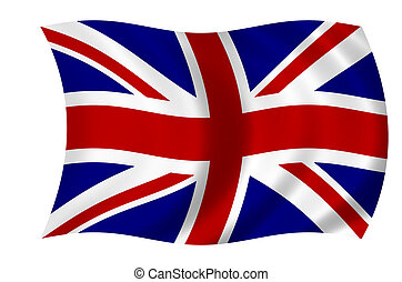 Waving flag of the United Kingdom - british flag - union jack