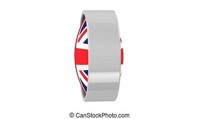 British flag with circular frame. Part of a series.