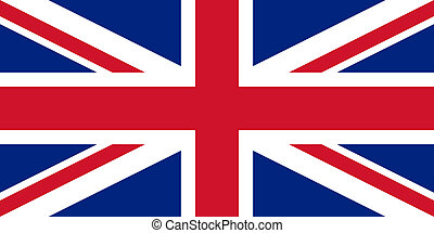 British Flag With Real Colours And Proportions Vector...