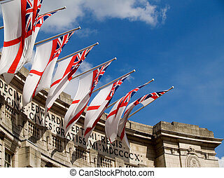 British flags over Admiralty Arch.
