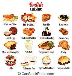 British Food Cuisine - A vector illustration of British Food...
