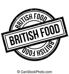 British Food rubber stamp. Grunge design with dust...