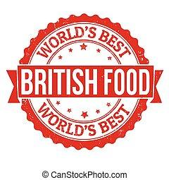 British food stamp - British food grunge rubber stamp on...