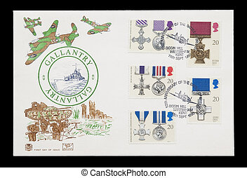 british gallantry medals - BRITISH: first day of issue mail...