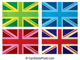 British grunge flags