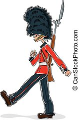 British guard cartoon.