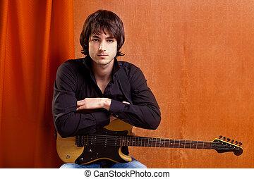 british indie pop rock look young musician guitar player