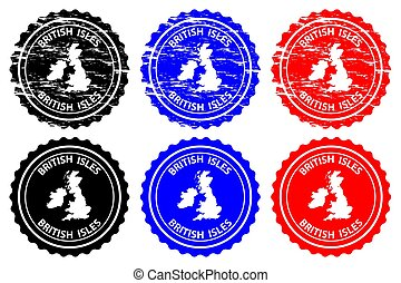 British Isles - rubber stamp