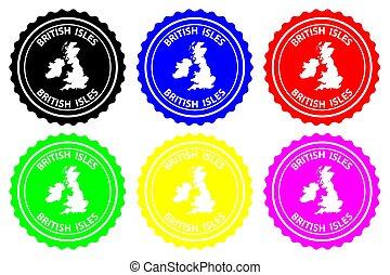 British Isles - rubber stamp