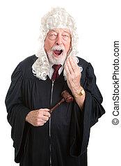British Judge - Bored - Britiish style judge wearing a wig,...