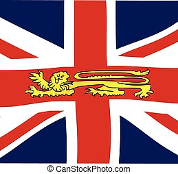British Lion On The Union Jack Flag